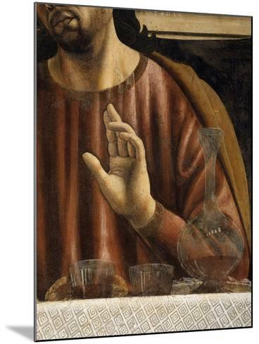 Hand of Saint James with Glasses and Carafe, from the Last Supper, Fresco C.1444-50 (Detail)-Andrea Del Castagno-Mounted Giclee Print
