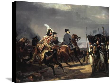 The Battle of Iena, 14 October 1806 - French Army Commanded by Napoleon Bonaparte, 1769-1821-Horace Vernet-Stretched Canvas Print