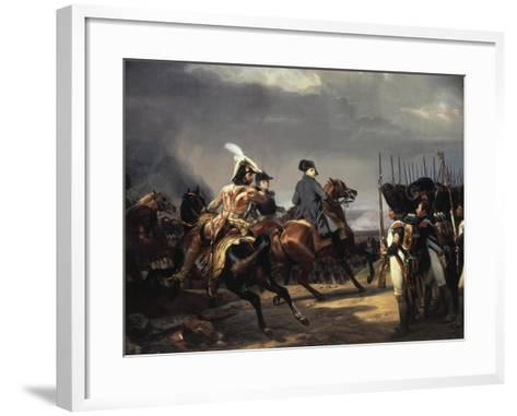 The Battle of Iena, 14 October 1806 - French Army Commanded by Napoleon Bonaparte, 1769-1821-Horace Vernet-Framed Art Print