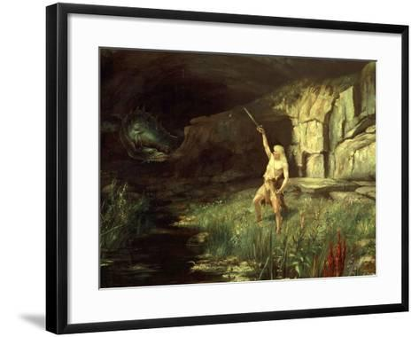 Siegfried, Hero of the Ring of the Nibelungen Opera Cycle by Richard Wagner, 1813-83-Hermann Hendrich-Framed Art Print