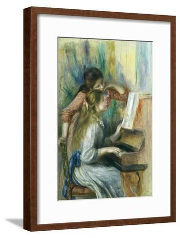 Jeunes Filles Au Piano, Young Girls at the Piano, C. 1892-Pierre-Auguste Renoir-Framed Art Print