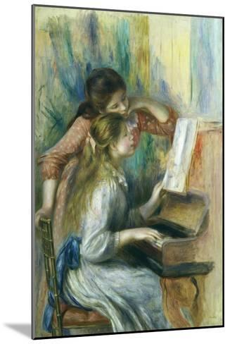 Jeunes Filles Au Piano, Young Girls at the Piano, C. 1892-Pierre-Auguste Renoir-Mounted Giclee Print