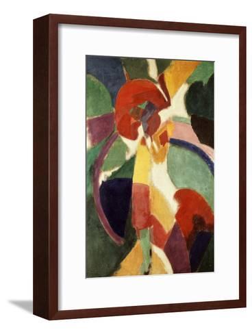Femme ? L'Ombrelle Ou La Parisienne (Woman with Umbrella or the Parisian Lady), 1913-Robert Delaunay-Framed Art Print