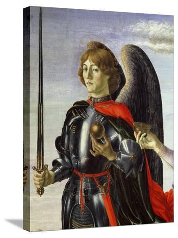 Michael, from Tobias and the Three Archangels (Detail)-Francesco Botticini-Stretched Canvas Print