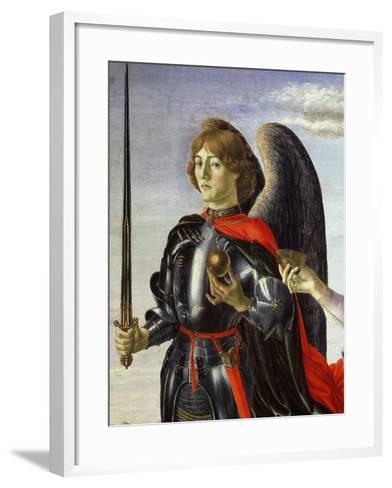 Michael, from Tobias and the Three Archangels (Detail)-Francesco Botticini-Framed Art Print