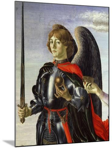 Michael, from Tobias and the Three Archangels (Detail)-Francesco Botticini-Mounted Giclee Print