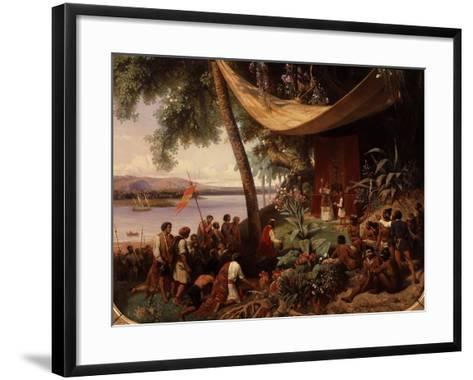 The First Mass Said in America-Pharamond Blanchard-Framed Art Print