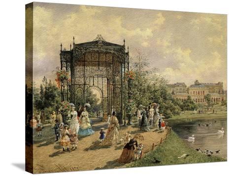 Municipal Park, Vienna, Austria, 1872 Watercolour-Franz Alt-Stretched Canvas Print