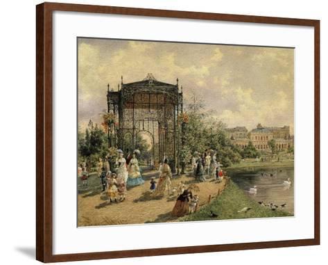 Municipal Park, Vienna, Austria, 1872 Watercolour-Franz Alt-Framed Art Print