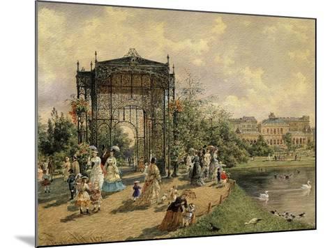Municipal Park, Vienna, Austria, 1872 Watercolour-Franz Alt-Mounted Giclee Print