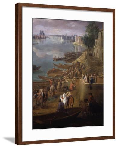 Bottom Tip of the Ile St Louis, Paris from the Quai De La Rapée, also Called the Quai De Bercy-Pierre-Denis Martin-Framed Art Print