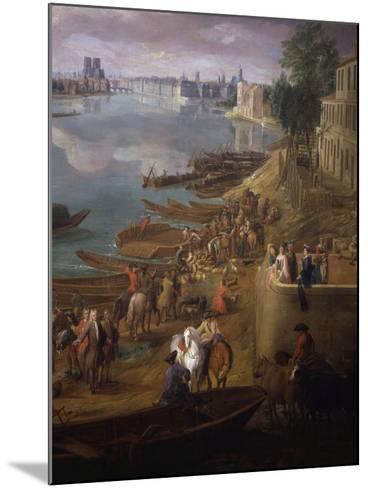 Bottom Tip of the Ile St Louis, Paris from the Quai De La Rapée, also Called the Quai De Bercy-Pierre-Denis Martin-Mounted Giclee Print