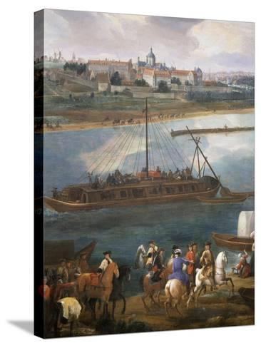Left Bank with Hospital of the Salpetrière, Paris from the Quai De La Rapée-Pierre-Denis Martin-Stretched Canvas Print