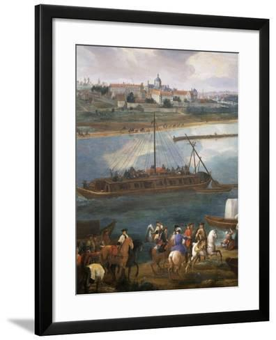 Left Bank with Hospital of the Salpetrière, Paris from the Quai De La Rapée-Pierre-Denis Martin-Framed Art Print