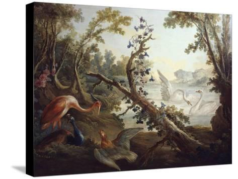 Landscape with Swans, C.1765, North Wall of the Salon Demarteau-Jean-Honor? Fragonard-Stretched Canvas Print