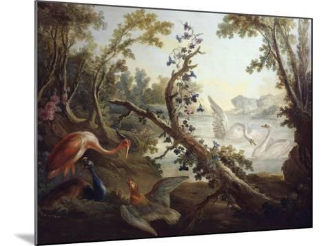Landscape with Swans, C.1765, North Wall of the Salon Demarteau-Jean-Honor? Fragonard-Mounted Giclee Print