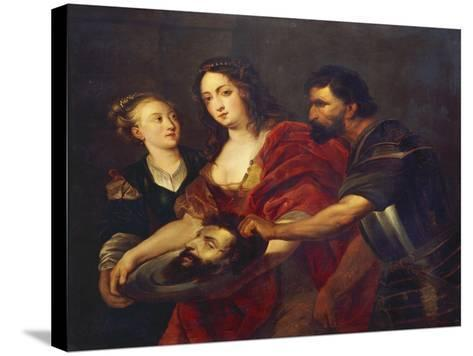 Salomé Receives the Head of John the Baptist, 17th Century-Peter Paul Rubens-Stretched Canvas Print