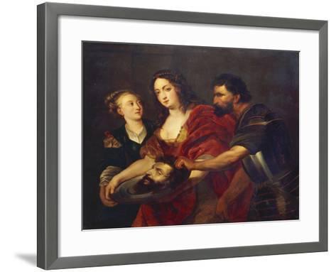 Salomé Receives the Head of John the Baptist, 17th Century-Peter Paul Rubens-Framed Art Print