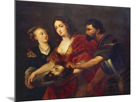 Salomé Receives the Head of John the Baptist, 17th Century-Peter Paul Rubens-Mounted Giclee Print