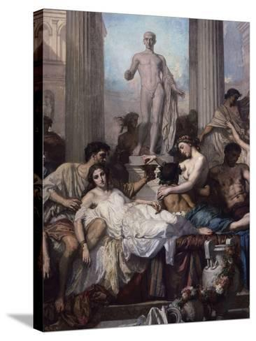 Detail, Les Romains De La Decadence (The Romans of the Decadence), 1847-Thomas Couture-Stretched Canvas Print