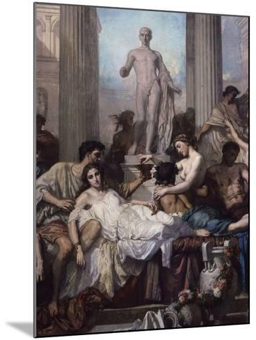 Detail, Les Romains De La Decadence (The Romans of the Decadence), 1847-Thomas Couture-Mounted Giclee Print
