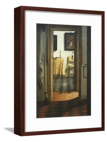 Les Pantoufles, the Slippers, or Interior View-Samuel van Hoogstraaten-Framed Art Print
