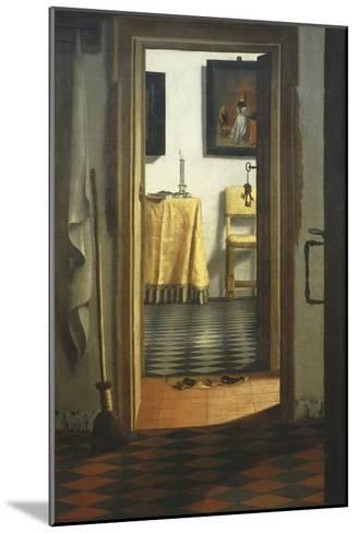Les Pantoufles, the Slippers, or Interior View-Samuel van Hoogstraaten-Mounted Giclee Print