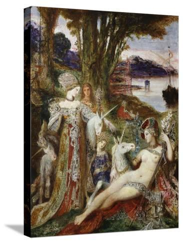 The Unicorns, 1887-88-Gustave Moreau-Stretched Canvas Print
