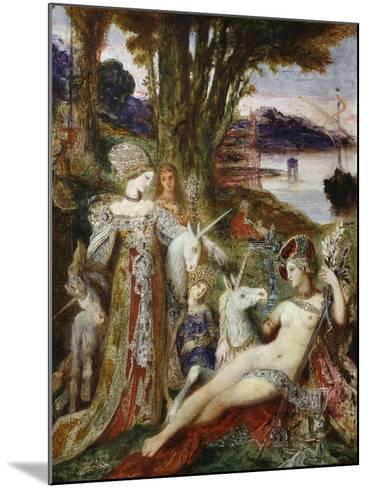 The Unicorns, 1887-88-Gustave Moreau-Mounted Giclee Print