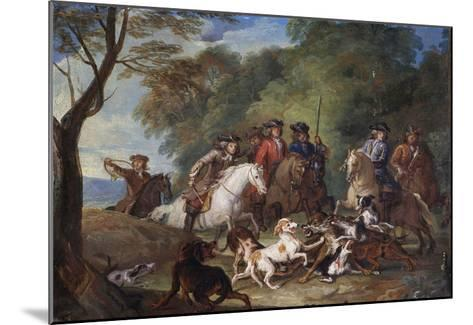 Wolf Hunting, Oil Sketch, C.1720-23-François Desportes-Mounted Giclee Print