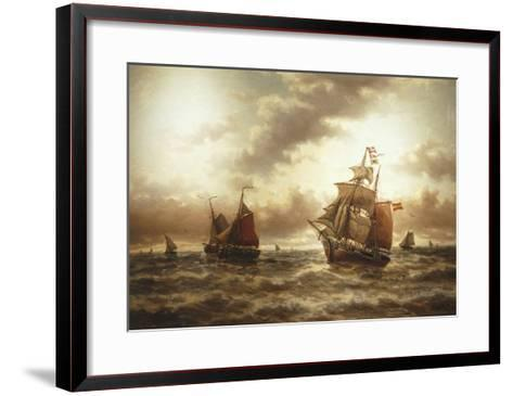 Threat of a Storm, Undated-Auguste Musin-Framed Art Print