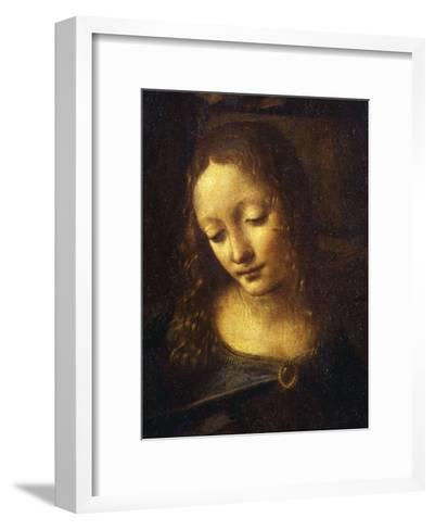 Virgin, from the Virgin of the Rocks, 1483-86, Detail-Leonardo da Vinci-Framed Art Print
