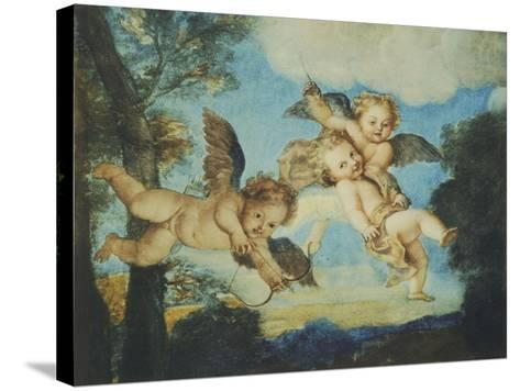 Cupids Playing, Drawing, 18th Century-Noel Nicolas Coypel-Stretched Canvas Print