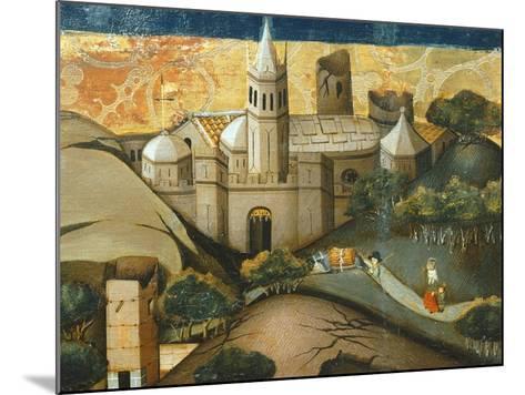 Landscape with Church, the Flight into Egypt, Verdu Retable, 1430-61, Llieda School, Detail-Jaime Ferrer-Mounted Giclee Print