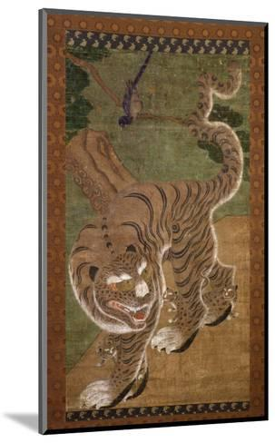 Tiger with Cubs, Ink on Silk, 18th Century, Choson Dynasty, Korea--Mounted Giclee Print
