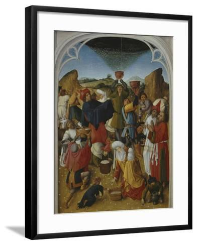 Gathering of the Manna, Oil on Wood, C. 1460-70- Master of the Manna-Framed Art Print