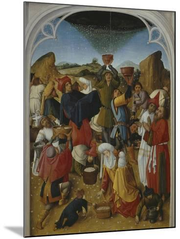 Gathering of the Manna, Oil on Wood, C. 1460-70- Master of the Manna-Mounted Giclee Print