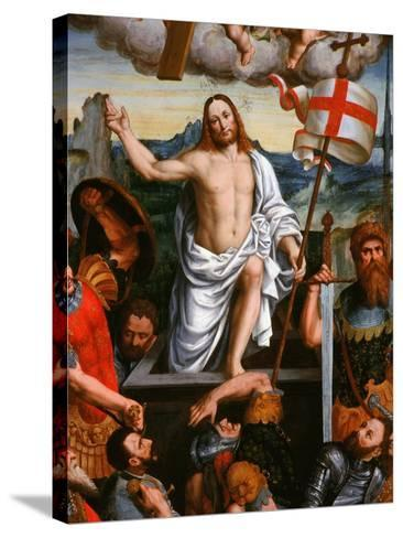 Christ Emerging from the Tomb, the Resurrection, from the Brotherhood of St Antony-Giuseppe Giovenone-Stretched Canvas Print