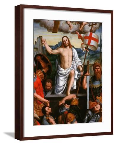 Christ Emerging from the Tomb, the Resurrection, from the Brotherhood of St Antony-Giuseppe Giovenone-Framed Art Print