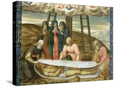 Christ Wrapped in the Holy Shroud, Deposition of Christ, 17th Century-Giovanni Battista Della Rovere-Stretched Canvas Print
