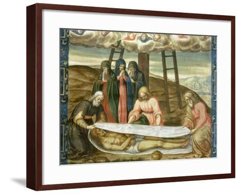 Christ Wrapped in the Holy Shroud, Deposition of Christ, 17th Century-Giovanni Battista Della Rovere-Framed Art Print