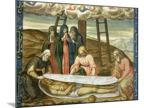 Christ Wrapped in the Holy Shroud, Deposition of Christ, 17th Century-Giovanni Battista Della Rovere-Mounted Giclee Print