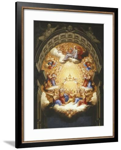 Sunrise on the New Testament, the Eucharist in a Monstrance Carried by Two Angels-Italian School-Framed Art Print