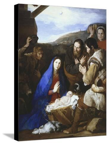 Adoration of the Shepherds, 1650-Jusepe de Ribera-Stretched Canvas Print