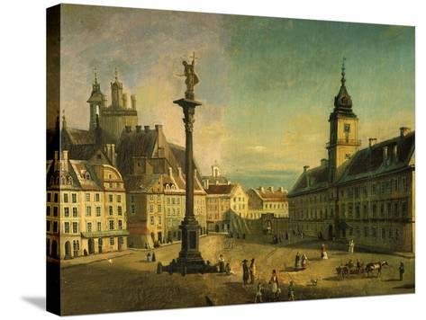 The Old Square, Warsaw, Poland (Detail)-Jan Seidlitz-Stretched Canvas Print