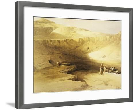Entrance to the Valley of the Kings, Biban El Muluk, Egypt, Lithograph, 1838-9-David Roberts-Framed Art Print