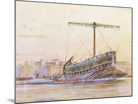 Assyrian Galley, Watercolour Reconstruction, Late 19th - Early 20th Century-Albert Sebille-Mounted Giclee Print