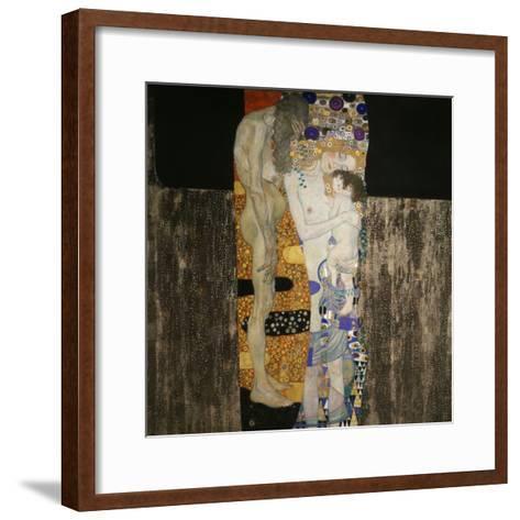 The Three Ages of Woman, 1905-Gustav Klimt-Framed Art Print