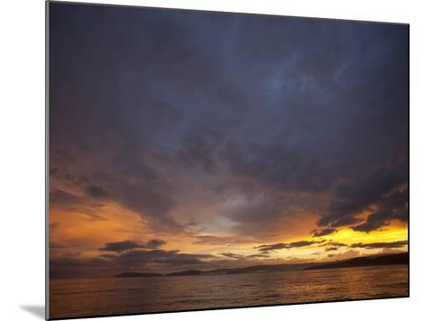 Sunset over the Pacific Ocean by Osa Peninsula-Michael Melford-Mounted Photographic Print