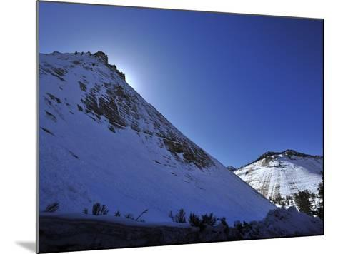 Snow Covered Checkerboard Mesa in Zion National Park-Raul Touzon-Mounted Photographic Print